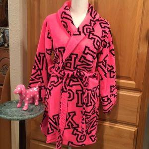 PINK robe & VS PINK mini dog